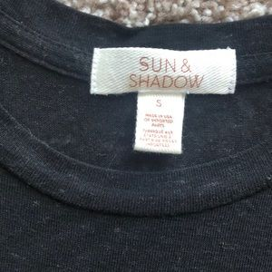 Sun & Shadow Tops - Sun and Shadow Nordstrom Black Tank Small